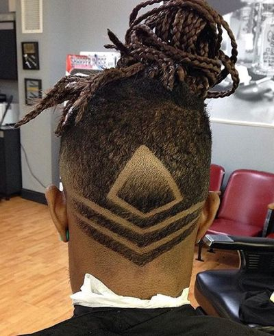 Dreadlocks and fade haircut