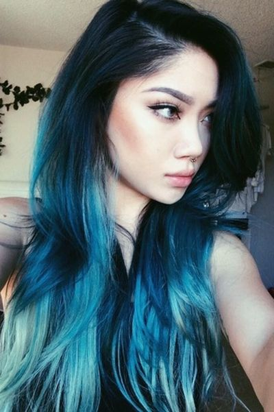 Electric Blue Ombre