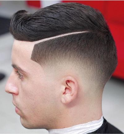 Flipped and fade haircut