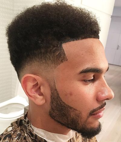 Geomatric haircut with low fade