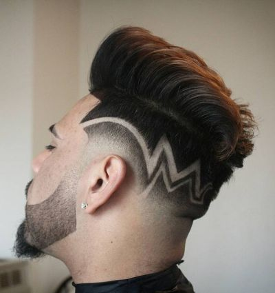 Geometrical Undercut Designs 65 Striking Medium Length Hairstyles For Men  The Ultimate List