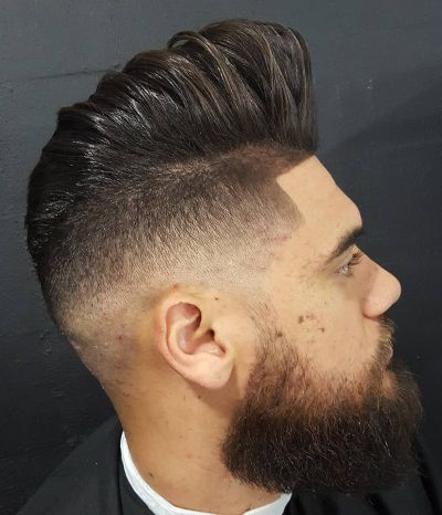 High pompadour undercut