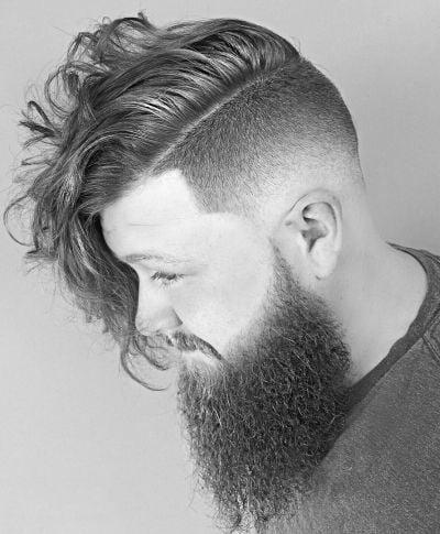 Layered low fade haircut