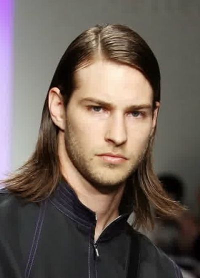 Long layered haircut for men