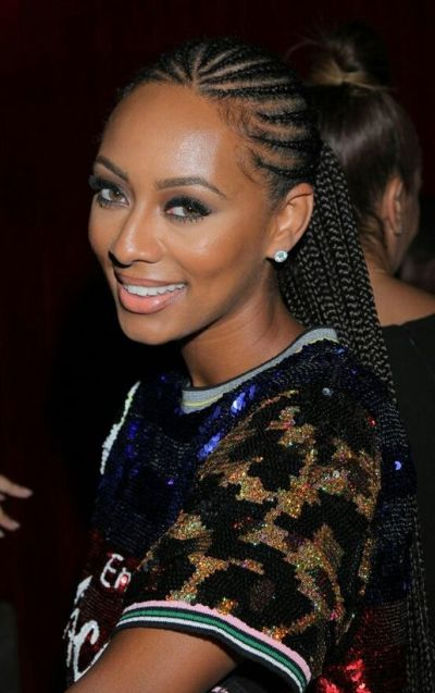 Natural black cornrow braids for black women
