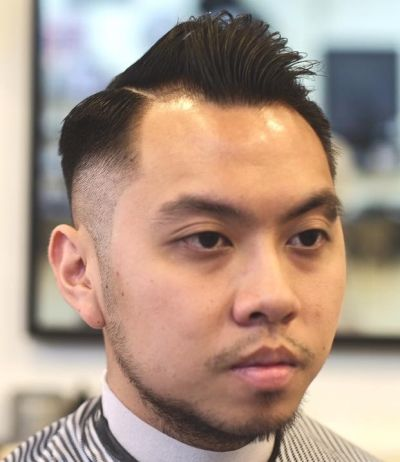 Short quiff with high fade