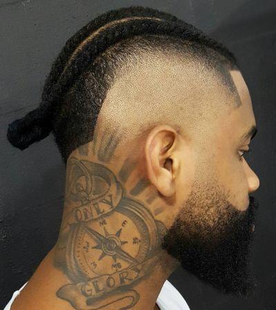 Skin fade and braids