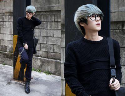 Sky gray hair