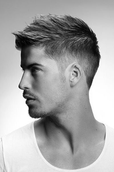 Attractive Perfect Short Hairstyles For Men With Thin Hair. 1. Spiked Up Undercut For  Men With Thin Hair