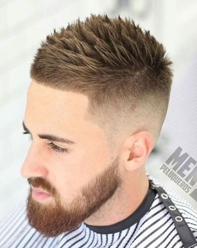Spiky fade haircut