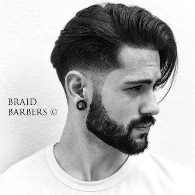 Taper fade haircut for men