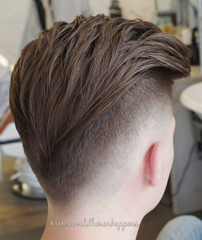 V fade haircut for boys