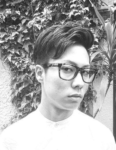 Wavy fringe for Asian men