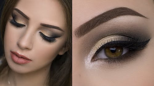 gold smokey-eye-makeup