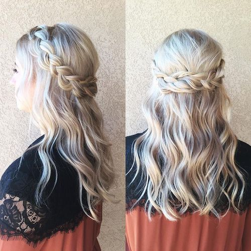 Half Up Half Down Braid Hairstyles: 43 Easy Summer Hairstyles For Long Hair For 2017