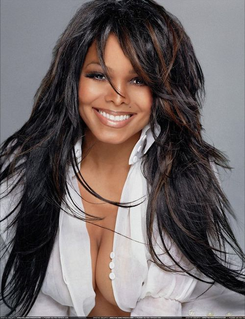 janet jackson long hair