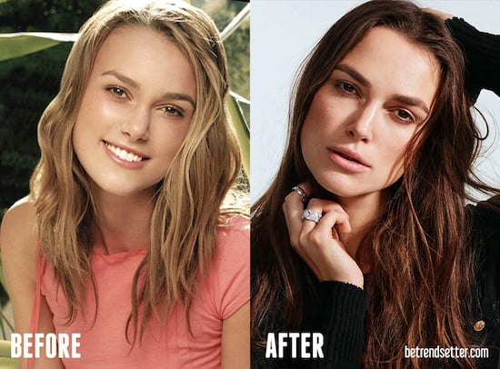 keira knightley before and after