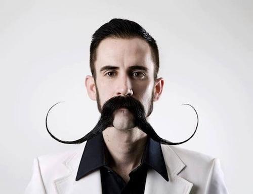 large handlebar mustache