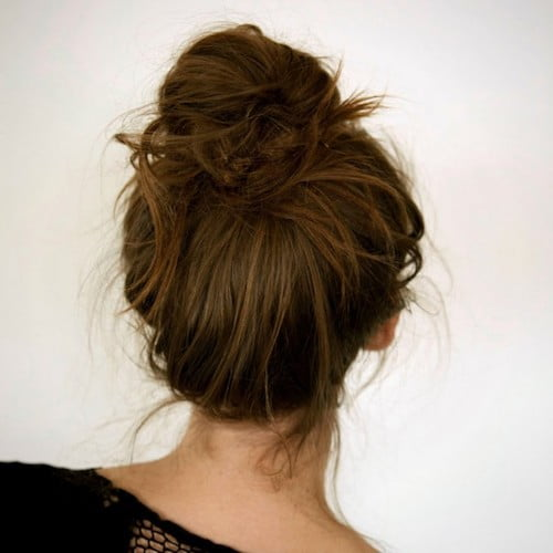 lazy girls bun