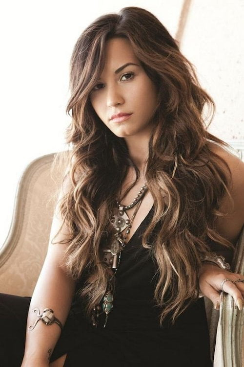 long hair with layers and curls