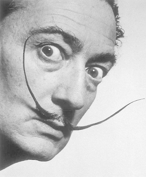 salvador dali mustache