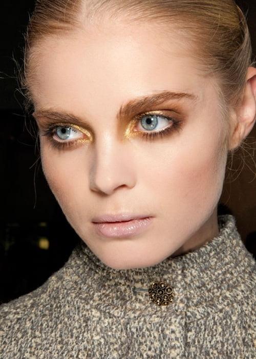 sheer gold eye makeup