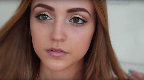 simple gold eye makeup