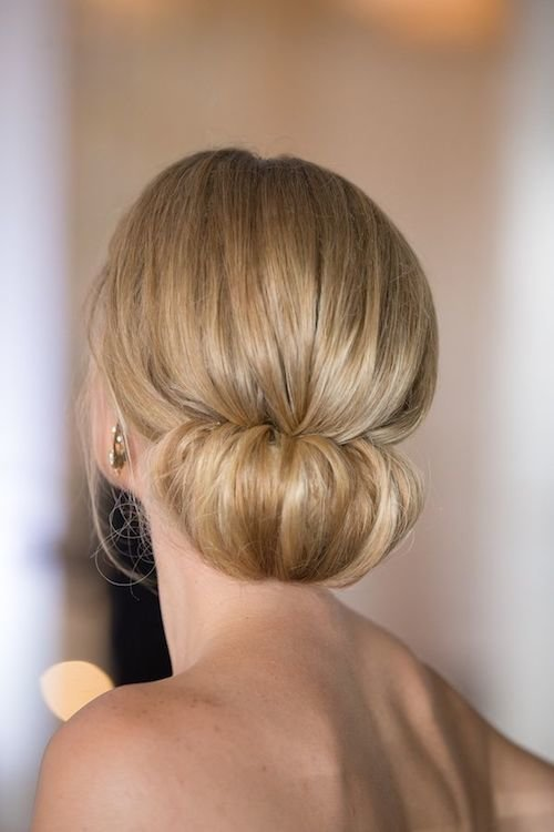 sleek low chignon