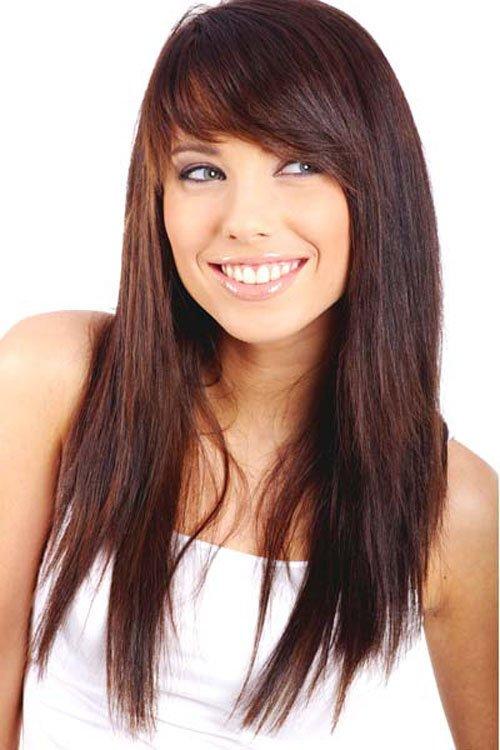 straight hair layered cut