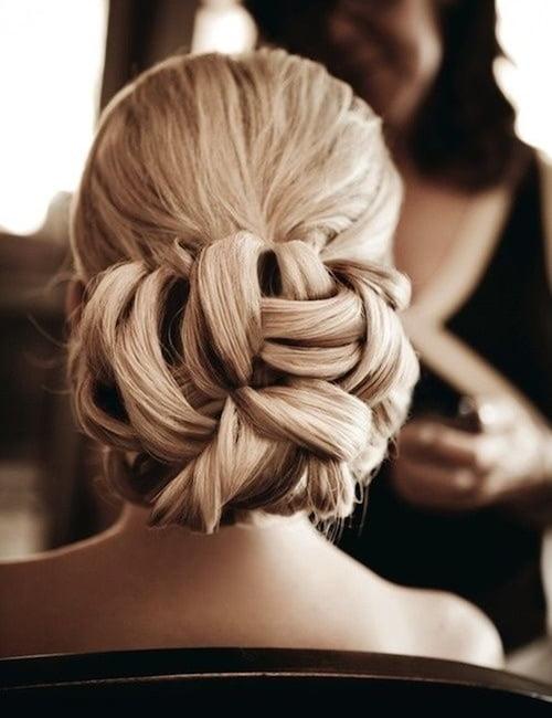 wedding hair twisted bun