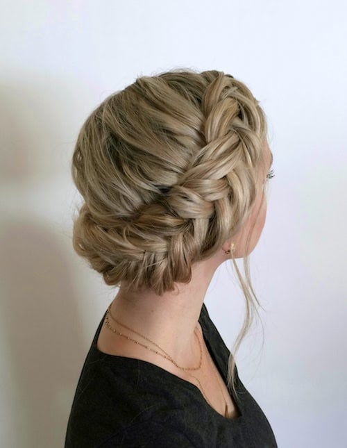wrapped fishtail braids