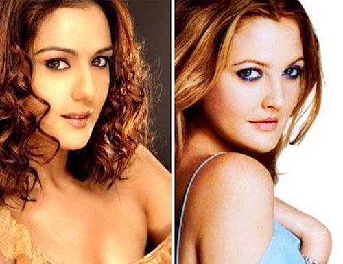 Preity Zinta and Drew Barrymore doppelganger