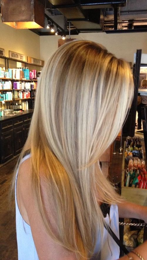 Balayage Long Blonde Hair