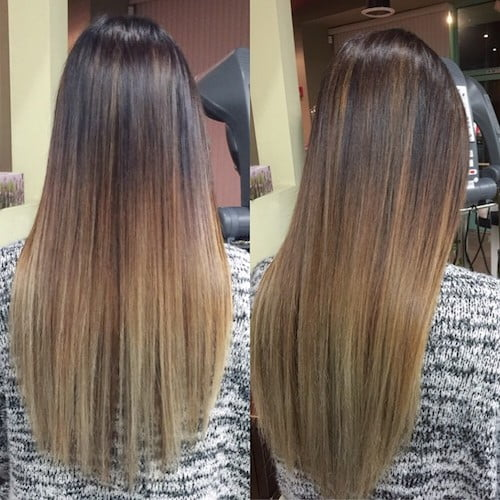 balayage long brown hair