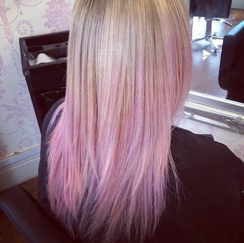 balayage pastel pink hair