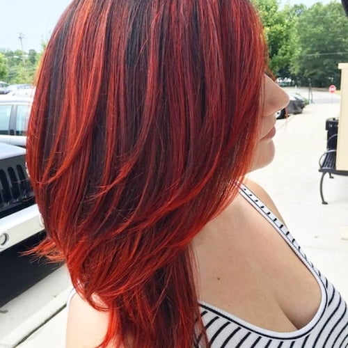 balayage red hair