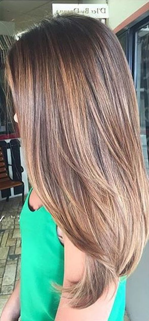 balayage straight brown hair