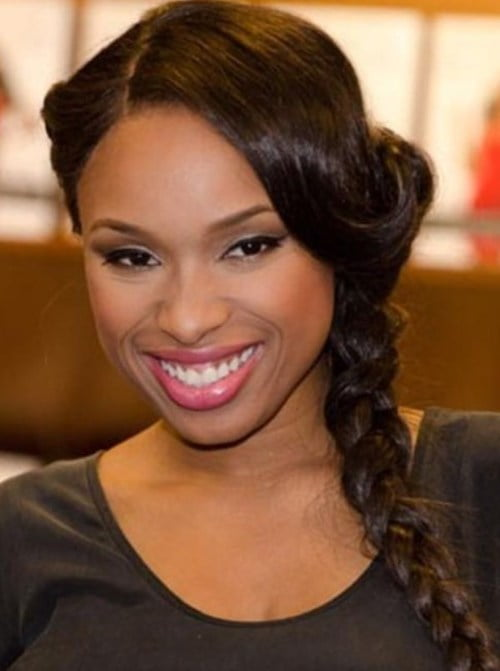 black girl thick side braid hair