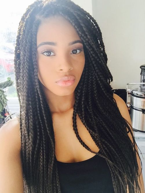 black girl thin braids