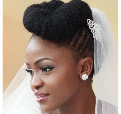 black girl twisted updo