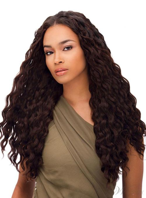 black woman thick long hair