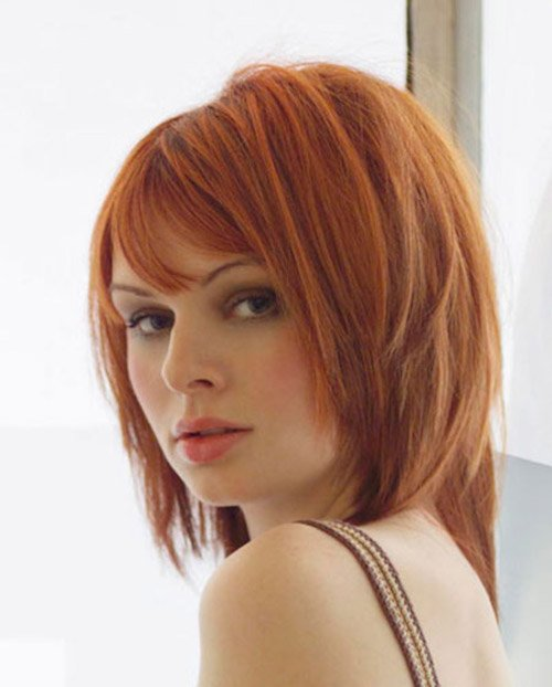 copper hair blunt bob