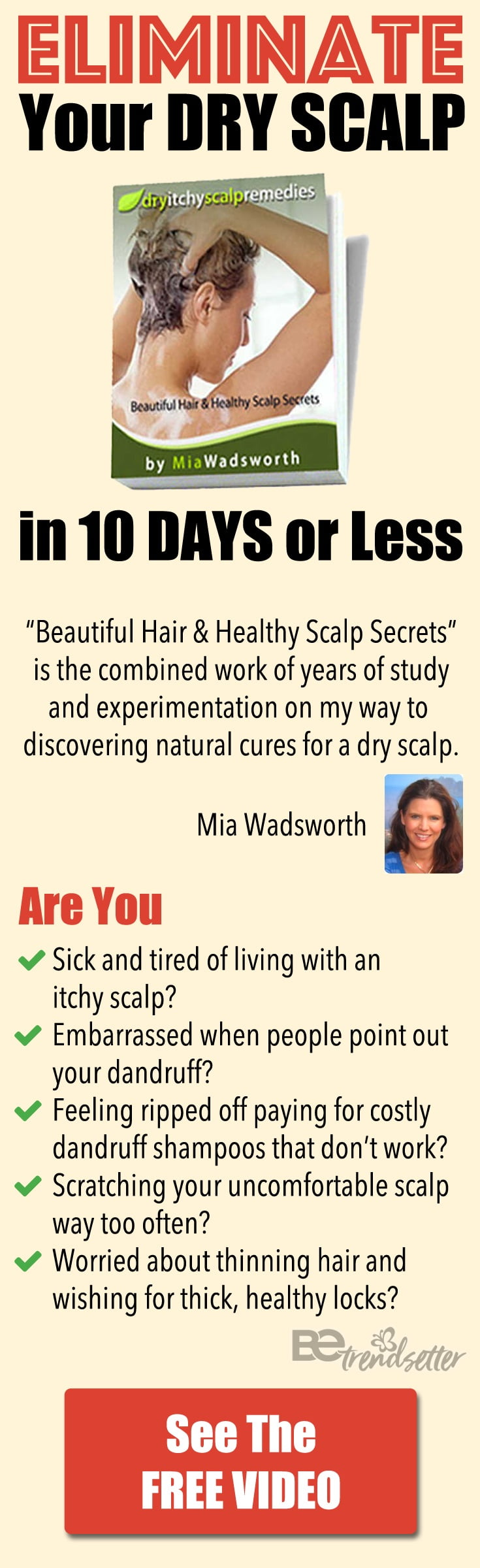 Eliminate your dry itchy scalp