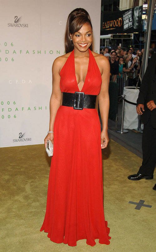 janet jackson red carpet hair