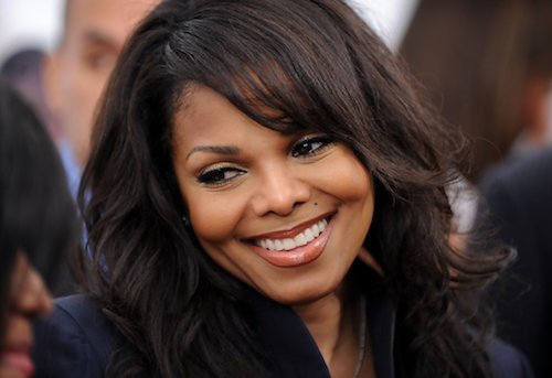 janet jackson sleek hair