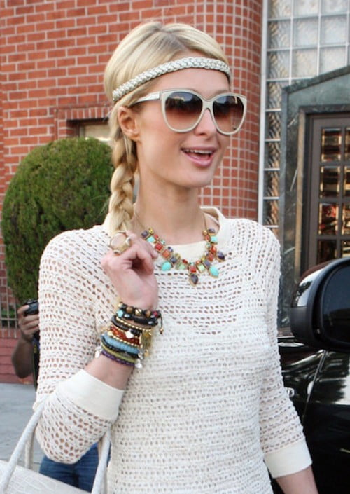 paris hilton braided headband