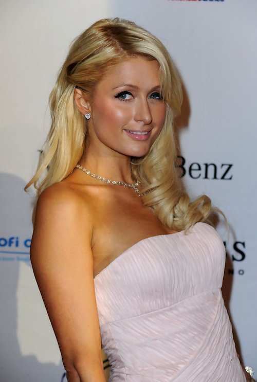 paris hilton side part