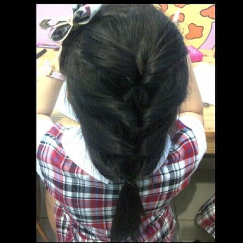 quadruple twist ponytail