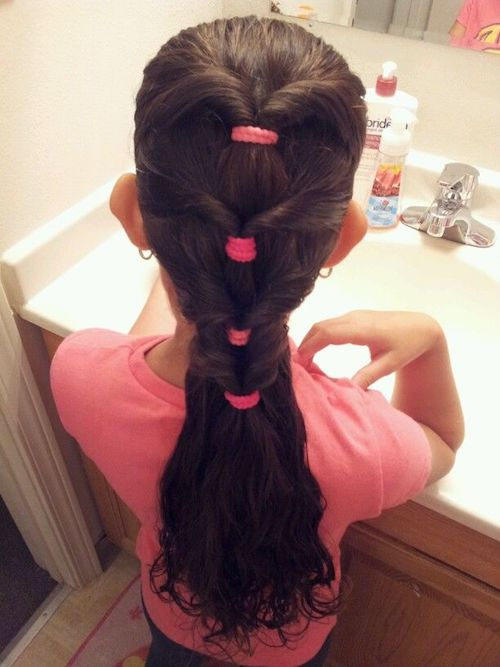 quadruple twist ponytail