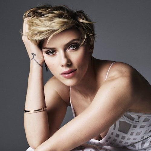Scarlett johansson short dark hair